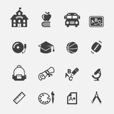 School icon. Web icon symbol design illustrator Royalty Free Stock Image
