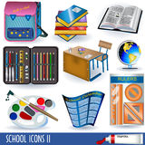 School icons 2 Royalty Free Stock Photos