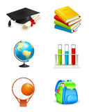 School icons. On the white Stock Images