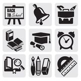 School icons Stock Photo