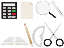 School icons. Vectors of colorful school icons Stock Photography