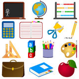 School Icons Collection. School and education icons set, isolated on white background. Eps file available Stock Images