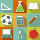 School icons Stock Image