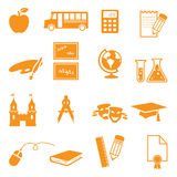 School Icons. Individually grouped school icons. Easy to change colour Royalty Free Stock Photos