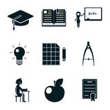 School icons isolated Stock Photo