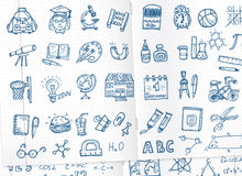 School icons set Royalty Free Stock Photos
