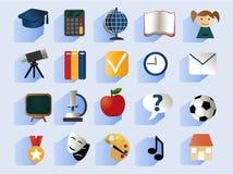 School icons Stock Photography