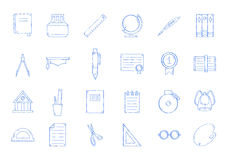 School icons set Royalty Free Stock Images