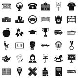 School icons set, simple style. School icons set. Simple style of 36 school vector icons for web isolated on white background royalty free illustration