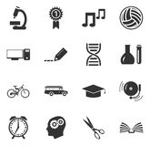 School Icons set Stock Image