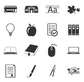 School Icons set Stock Photo