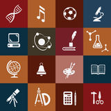 School icons set Stock Photography