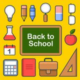 School Icons Set. Vector Royalty Free Stock Photo