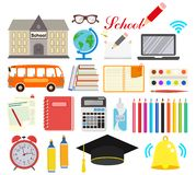School. Icons set. Vector illustration isolated on white background vector illustration