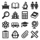 School Icons Set on White Background. Vector. Illustration royalty free illustration