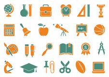 School icons Royalty Free Stock Images