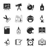 School 16 icons universal set for web and mobile. Flat Stock Illustration