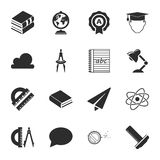School 16 icons universal set for web and mobile. Flat Vector Illustration