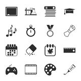 School 16 icons universal set for web and mobile Stock Photography