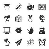 School 16 icons universal set for web and mobile Stock Images