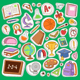 School icons vector set education collection Royalty Free Stock Photos