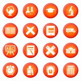 School icons vector set Stock Photography