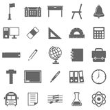 School icons on white background Royalty Free Stock Photography