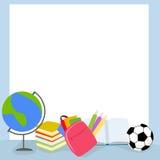 School illustration frame Stock Images