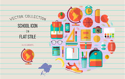 School illustration on line notebook paper.  Royalty Free Stock Images