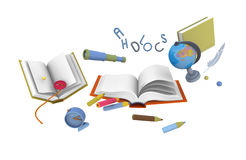 School illustration Royalty Free Stock Images