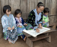 School In Asia, Lessons With Ethnic Group Meo Royalty Free Stock Photo