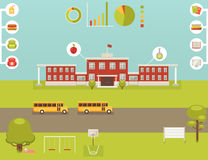 School Infographic - collection of design elements Royalty Free Stock Images