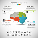 School Infographic Stock Images