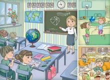 School inside vector illustration