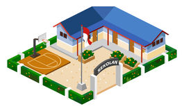 School Isometric. Build Your Own World with Isometric Works