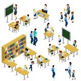 School Isometric Set stock illustration