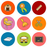 School Item Set Royalty Free Stock Photography