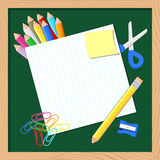 School items background Stock Image