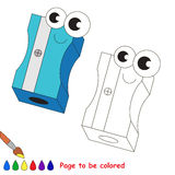 School items cartoon. Page to be colored. Stock Photography