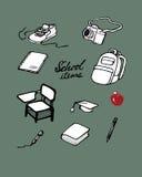 School items vector illustration
