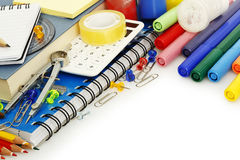 School items. Variety of school items with copyspace Royalty Free Stock Photography