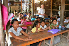School in the jungle Royalty Free Stock Photos