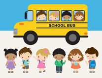 School Kid Back to School Children Vector Illustration Royalty Free Stock Photography