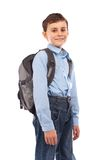 School kid with backpack Royalty Free Stock Photos