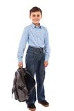 School kid with backpack Stock Photography