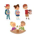 School kid primary education character vector. Royalty Free Stock Images