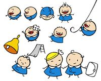 School kids. Various funny comic style school kids Royalty Free Stock Photography