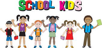 School Kids royalty free illustration