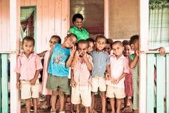 School kids. In Viti Levu, Fiji Royalty Free Stock Photography