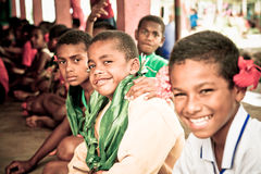 School kids. In Viti Levu, Fiji Royalty Free Stock Photo